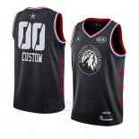 Camiseta All Star 2019 Minnesota Timberwolves Personalizada Negro