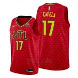Camiseta Atlanta Hawks Clint Capela #17 Statement 2019-20 Rojo