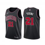 Camiseta Chicago Bulls Thaddeus Young #21 Statement Negro