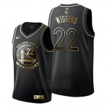 Camiseta Golden Edition Golden State Warriors Andrew Wiggins #22 2019-20 Negro