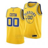 Camiseta Golden State Warriors Hardwood Classic 2018-19 Amarillo Personalizada