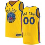 Camiseta Golden State Warriors Nike Personalizada 17-18 Amarillo