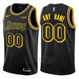 Camiseta Los Angeles Lakers Nike Personalizada 17-18 Negro