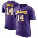 Camiseta Manga Corta Brandon Ingram Los Angeles Lakers 2019 Violeta2