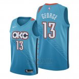 Camiseta Oklahoma City Thunder Paul George #13 Ciudad Edition Azul