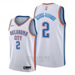 Camiseta Oklahoma City Thunder Shai Gilgeous Alexander #2 Association Blanco