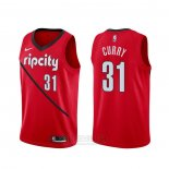 Camiseta Portland Trail Blazers Seth Curry #31 Earned Rojo