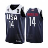 Camiseta USA Khris Middleton #14 2019 FIBA Basketball USA Cup Azul