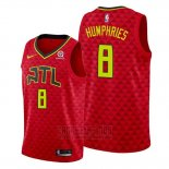 Camiseta Atlanta Hawks Isaac Humphries #8 Rojo Statement