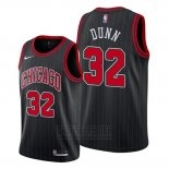 Camiseta Chicago Bulls Kris Dunn #32 Statement Edition Negro