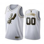 Camiseta Golden Edition San Antonio Spurs Personalizada Blanco