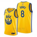 Camiseta Golden State Warriors Alec Burks #8 Statement The Bay Oro