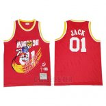 Camiseta Houston Rockets x Cactus Jack #01 Rojo