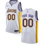 Camiseta Los Angeles Lakers Nike Personalizada 17-18 Blanco