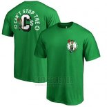 Camiseta Manga Corta Boston Celtics Verde Can't Stop