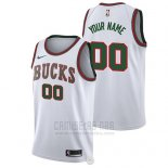 Camiseta Milwaukee Bucks Nike Personalizada 2017-18 Blanco