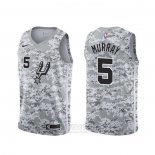 Camiseta San Antonio Spurs Dejounte Murray #5 Earned Camuflaje