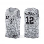 Camiseta San Antonio Spurs Lamarcus Aldridge #12 Earned Camuflaje