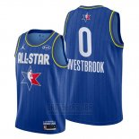 Camiseta All Star 2020 Houston Rockets Russell Westbrook #0 Azul