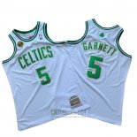 Camiseta Boston Celtics Kevin Garnett #5 2007-08 Finals Blanco