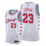 Camiseta Chicago Bulls Michael Jordan #23 Ciudad Edition 2017 Blanco