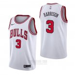 Camiseta Chicago Bulls Shaquille Harrison #3 Association Blanco