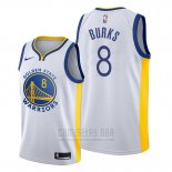 Camiseta Golden State Warriors Alec Burks #8 Association Blanco