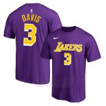 Camiseta Manga Corta Anthony Davis Los Angeles Lakers Violeta2