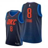 Camiseta Oklahoma City Thunder Jawun Evans #8 Statement Azul
