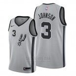 Camiseta San Antonio Spurs Keldon Johnson #3 Statement 2019-20 Gris