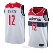 Camiseta Washington Wizards Jabari Parker #12 Association 2018 Blanco
