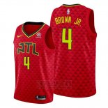 Camiseta Atlanta Hawks Charles Brown JR. #4 Statement Rojo