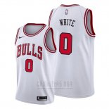 Camiseta Chicago Bulls Coby White #0 Association 2019-20 Blanco