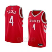 Camiseta Houston Rockets P.j. Tucker #4 Icon 2017-18 Rojo