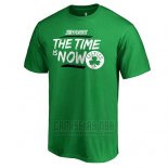 Camiseta Manga Corta Boston Celtics Verde 2018 NBA Playoffs Bet Slogan
