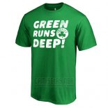 Camiseta Manga Corta Boston Celtics Verde Green Runs Deep