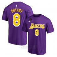 Camiseta Manga Corta Kobe Bayant 8 Los Angeles Lakers Violeta Commemorativo