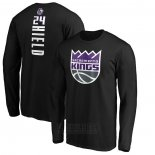 Camiseta Manga Larga Buddy Hield Sacramento Kings Negro