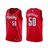 Camiseta Portland Trail Blazers Caleb Swanigan #50 Earned Rojo