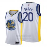 Camiseta Golden State Warriors Alec Burks #20 Association 2019-20 Blanco