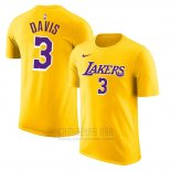 Camiseta Manga Corta Anthony Davis Los Angeles Lakers Amarillo2