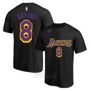 Camiseta Manga Corta Kobe Bayant 8 Los Angeles Lakers Negro Commemorativo
