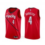 Camiseta Portland Trail Blazers Maurice Harkless #4 Earned Rojo
