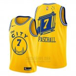 Camiseta Golden State Warriors Eric Paschall #7 Hardwood Classics Oro