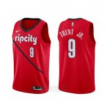 Camiseta Portland Trail Blazers Gary Trent Jr. #9 Earned Rojo