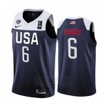 Camiseta USA Joe Harris #6 2019 FIBA Basketball USA Cup Azul