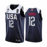 Camiseta USA Myles Turner #12 2019 FIBA Basketball USA Cup Azul