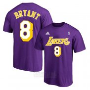 Camiseta Manga Corta Kobe Bayant 8 Los Angeles Lakers Violeta