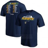 Camiseta Manga Corta Utah Jazz Azul Marino 2019 NBA Playoffs Tradition Roster