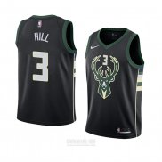 Camiseta Milwaukee Bucks George Hill #3 Statement 2018 Negro